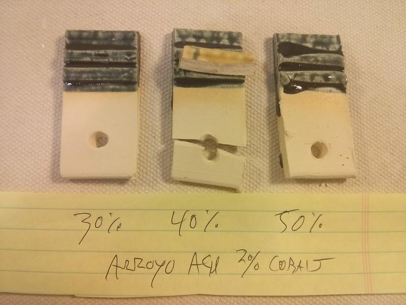 arroyo slip ash glaze with cobalt