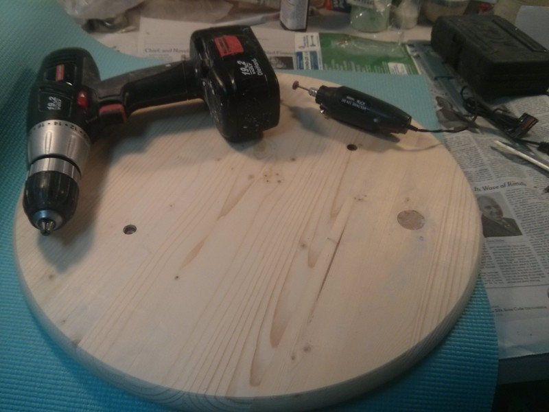 holes drilled in the wood