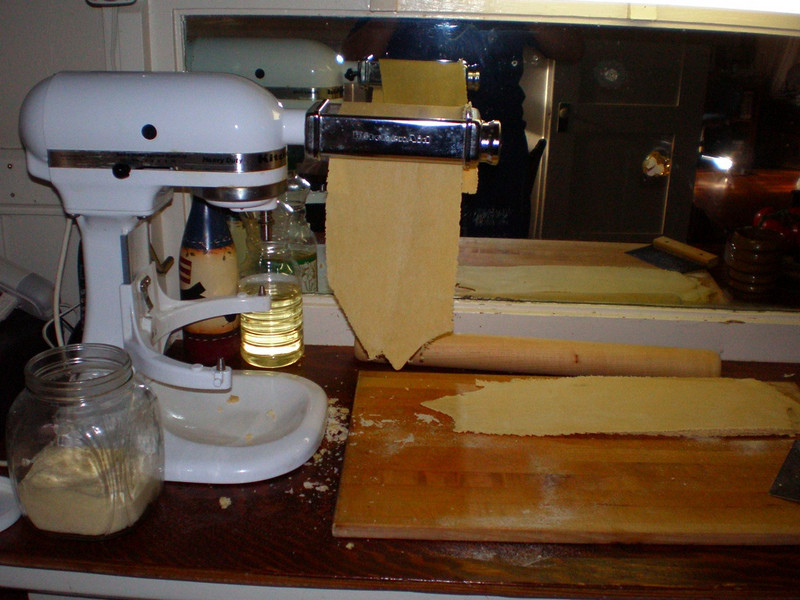 pasta maker making lasagna sheets