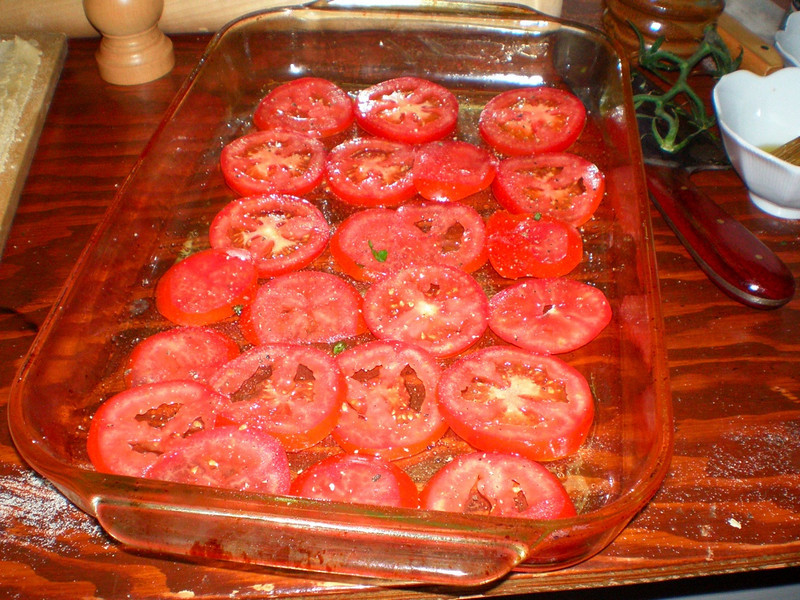 layer of tomato slices