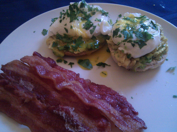 cal-bennies with bacon